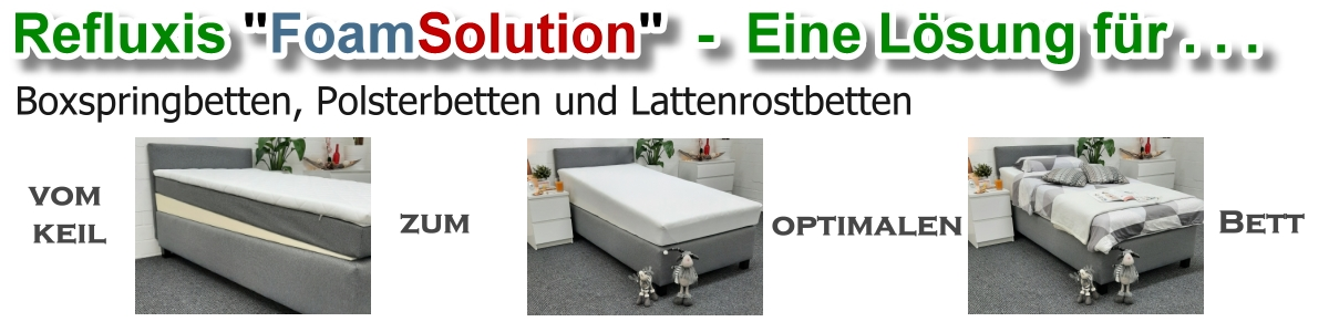 Refluxis FoamSolution - Das optimale Bett